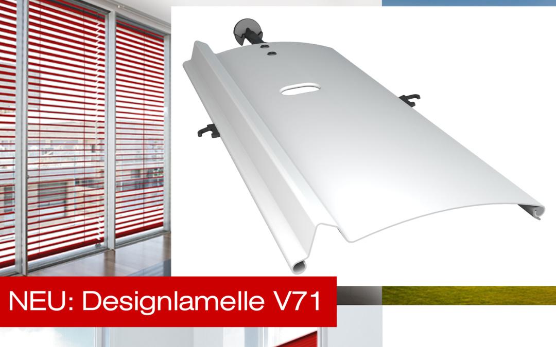 Präsentationsvideo der neuen Designlamelle V71