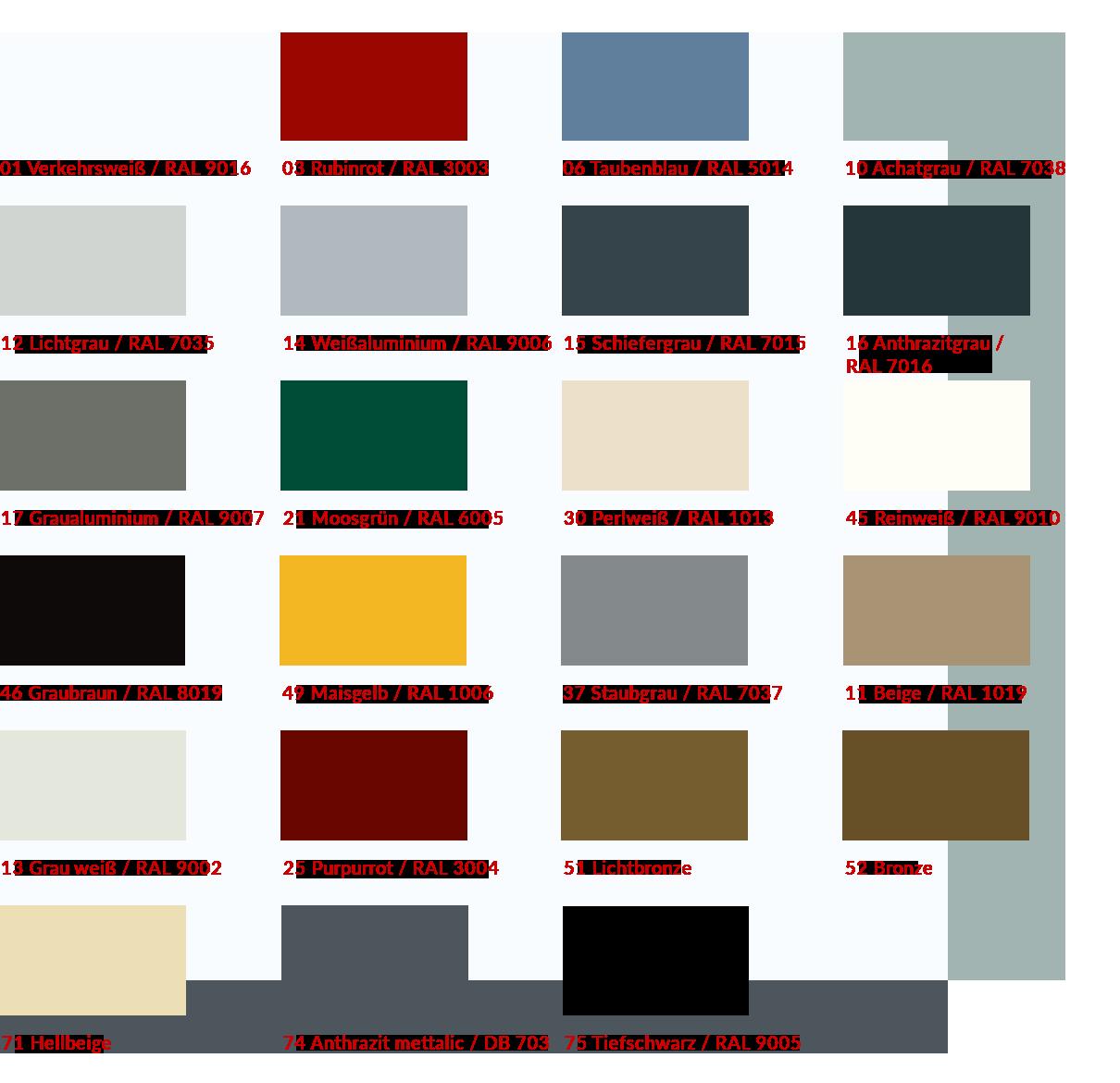 Außenjalousie gebördelte Lamellen Farben 80er
