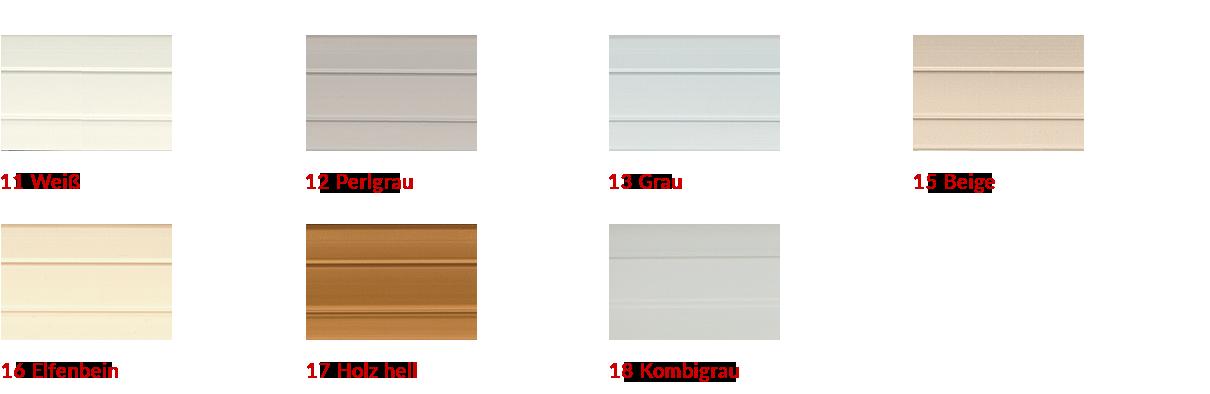 Farben Rollladenprofil Kunststoff