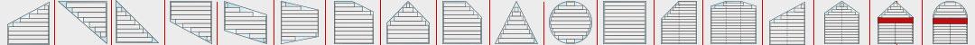 Dreiecksfenster und runde Fenster