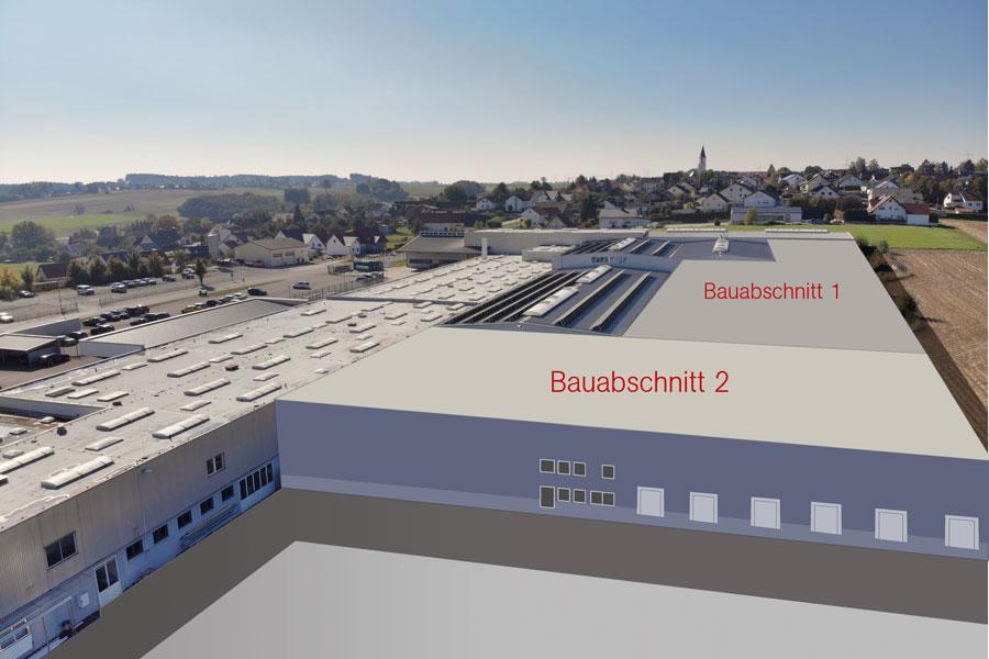 Bau Produktionshalle